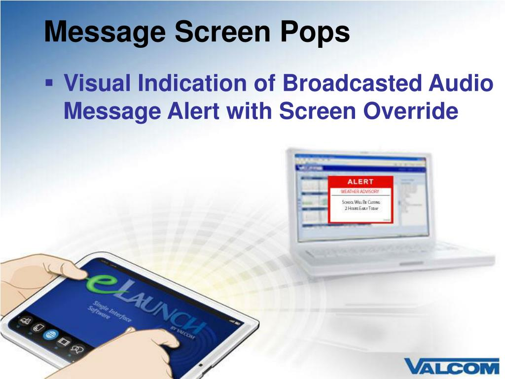 Message Screen Pops