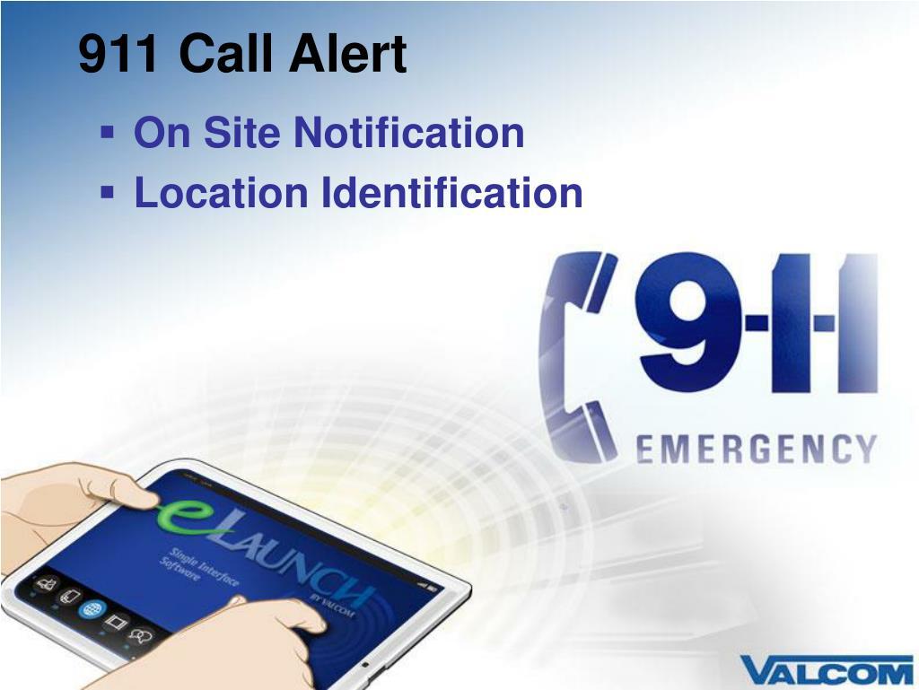 911 Call Alert