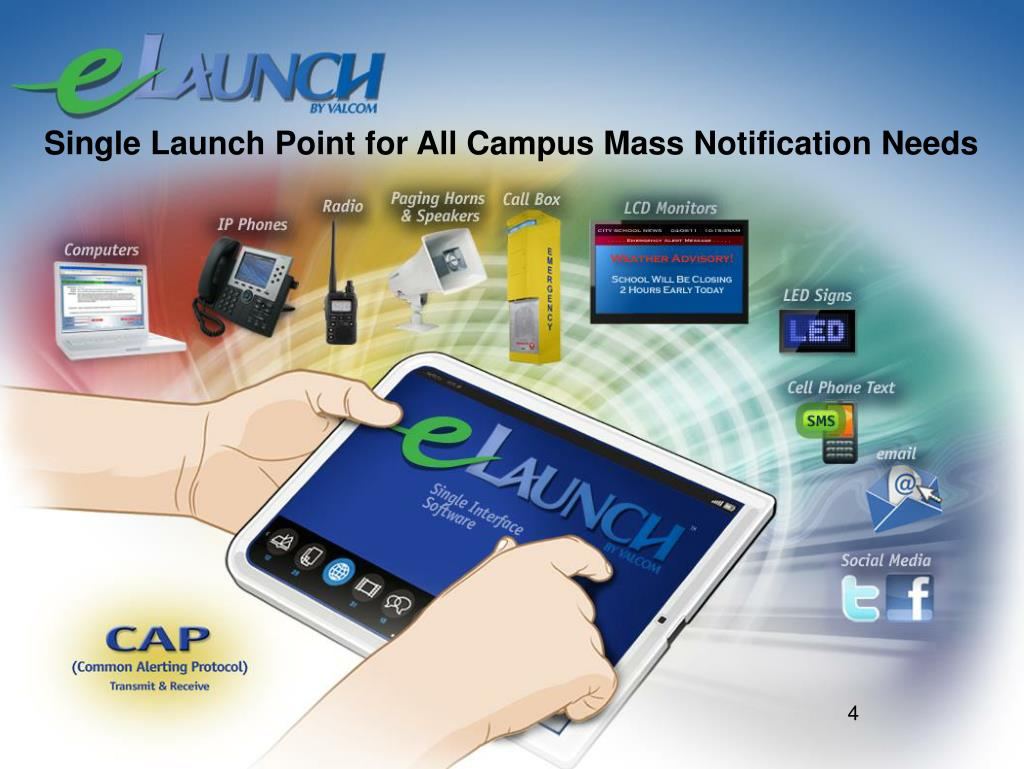 Single Launch Point for All Campus Mass Notification Needs