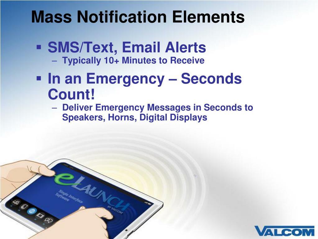 Mass Notification Elements