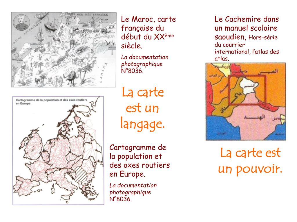 Le Maroc, carte française du début du XX