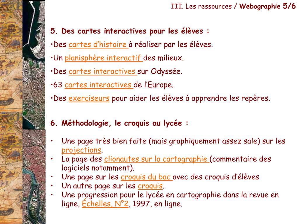 III. Les ressources /