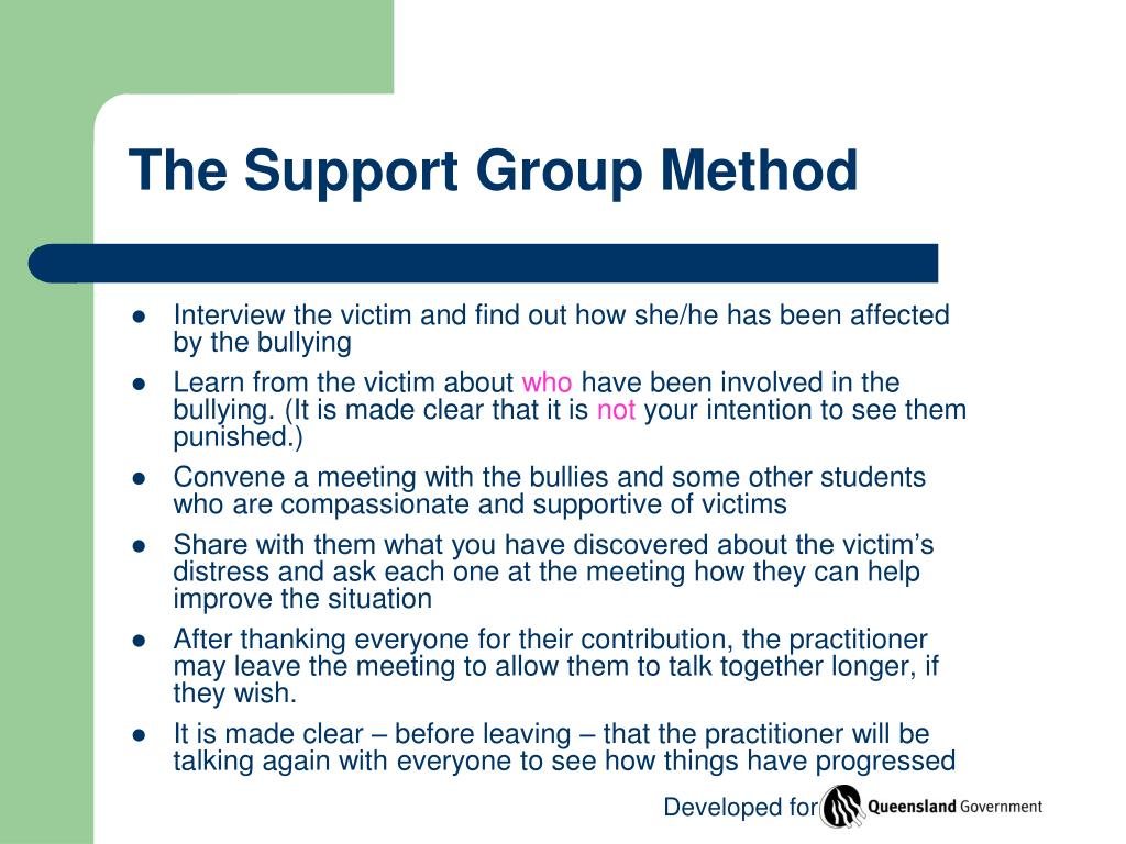 The Support Group Method