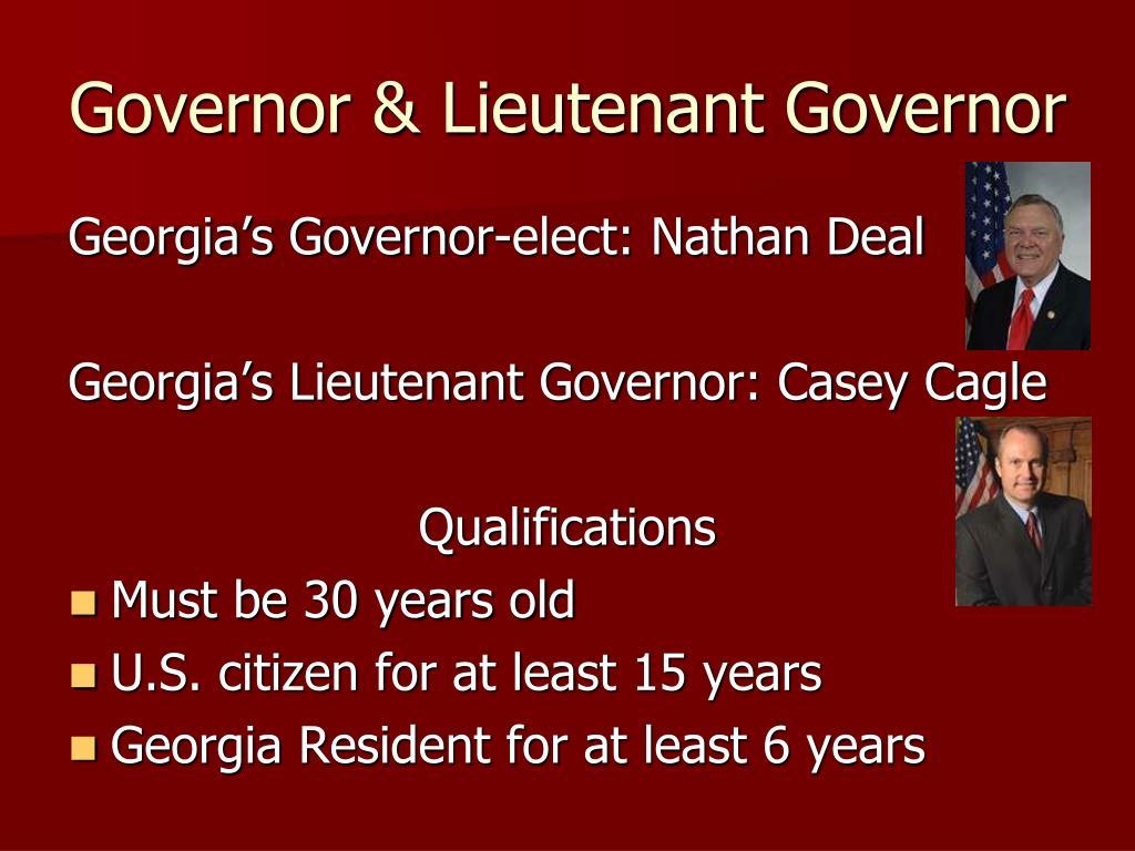 Governor & Lieutenant Governor
