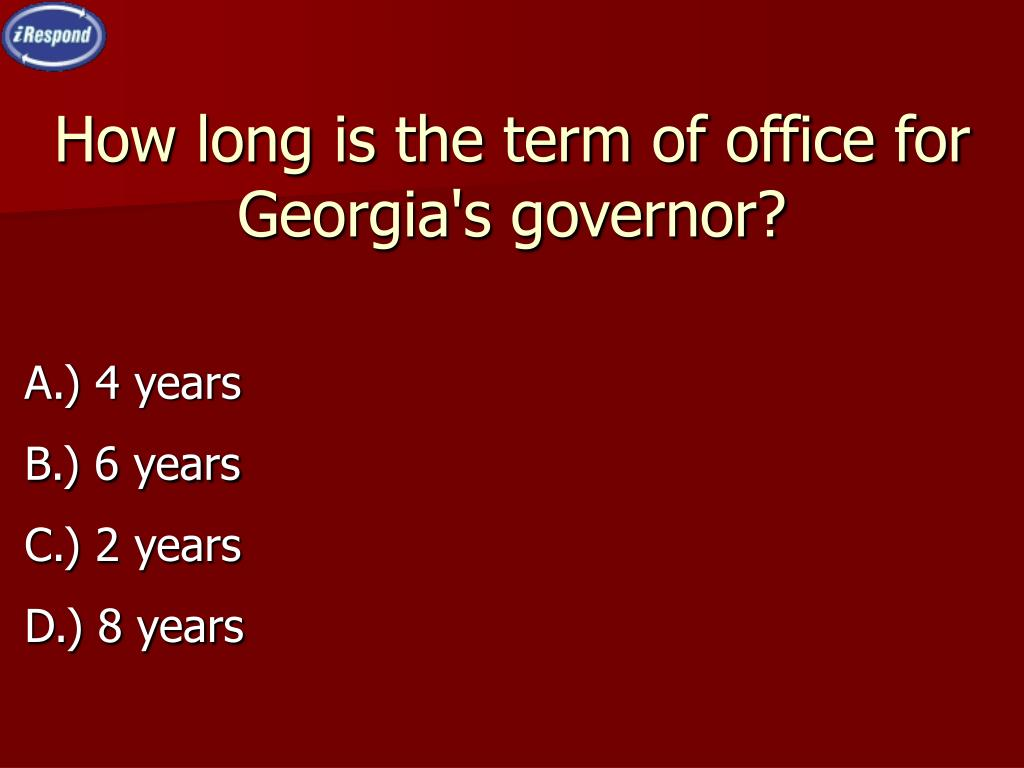 How long is the term of office for Georgia's governor?