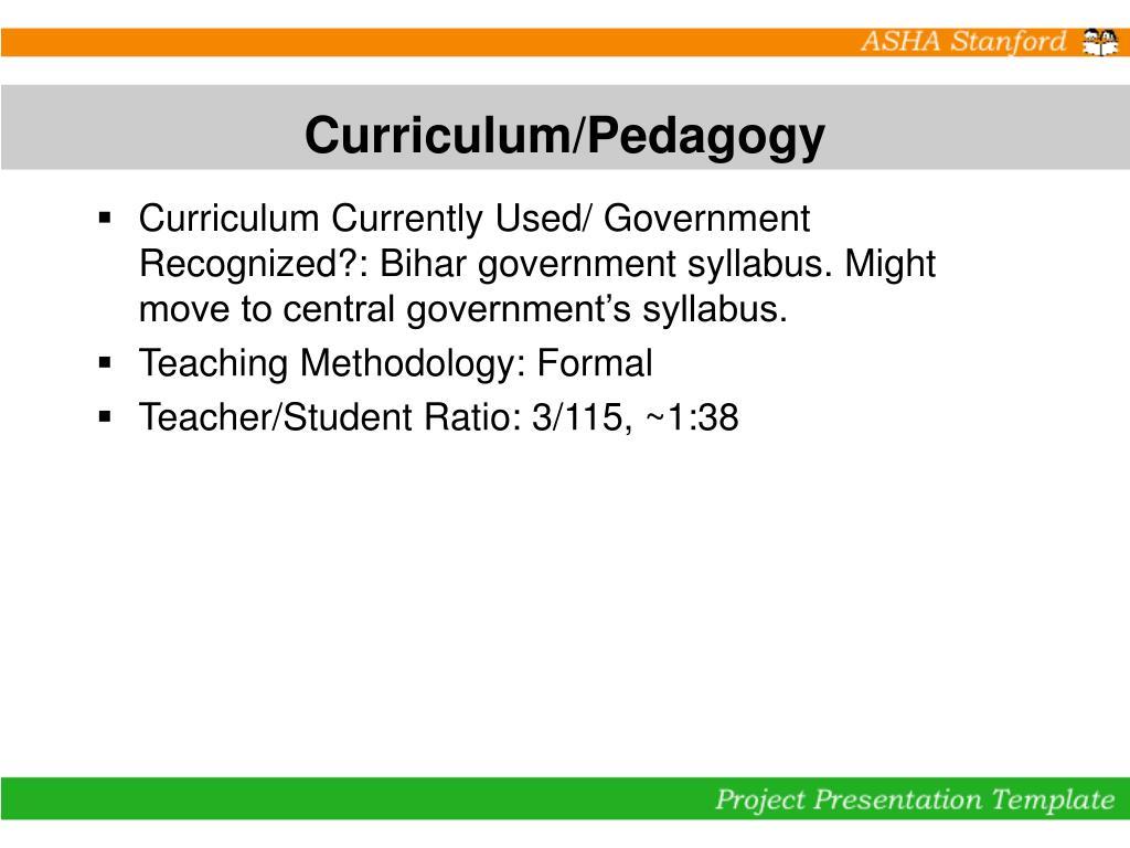 Curriculum/Pedagogy