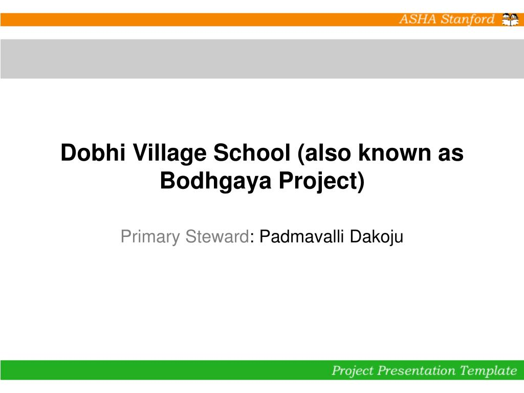 Dobhi Village School (also known as Bodhgaya Project)