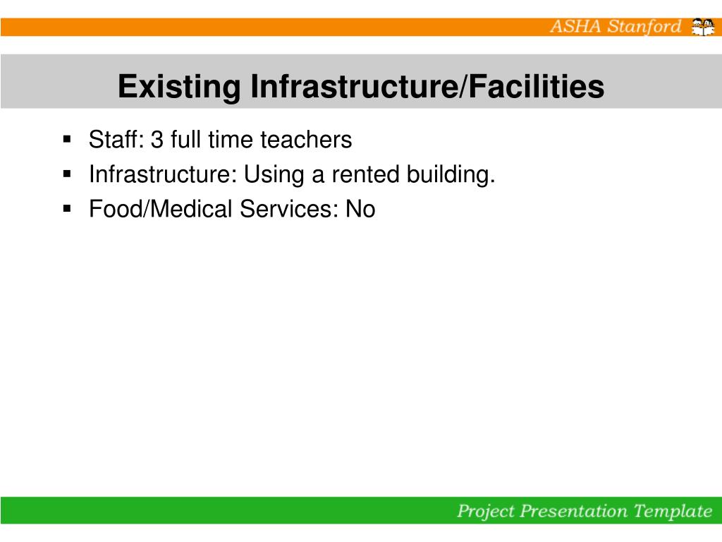 Existing Infrastructure/Facilities