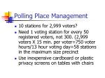 polling place management