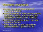 volumetric procedures