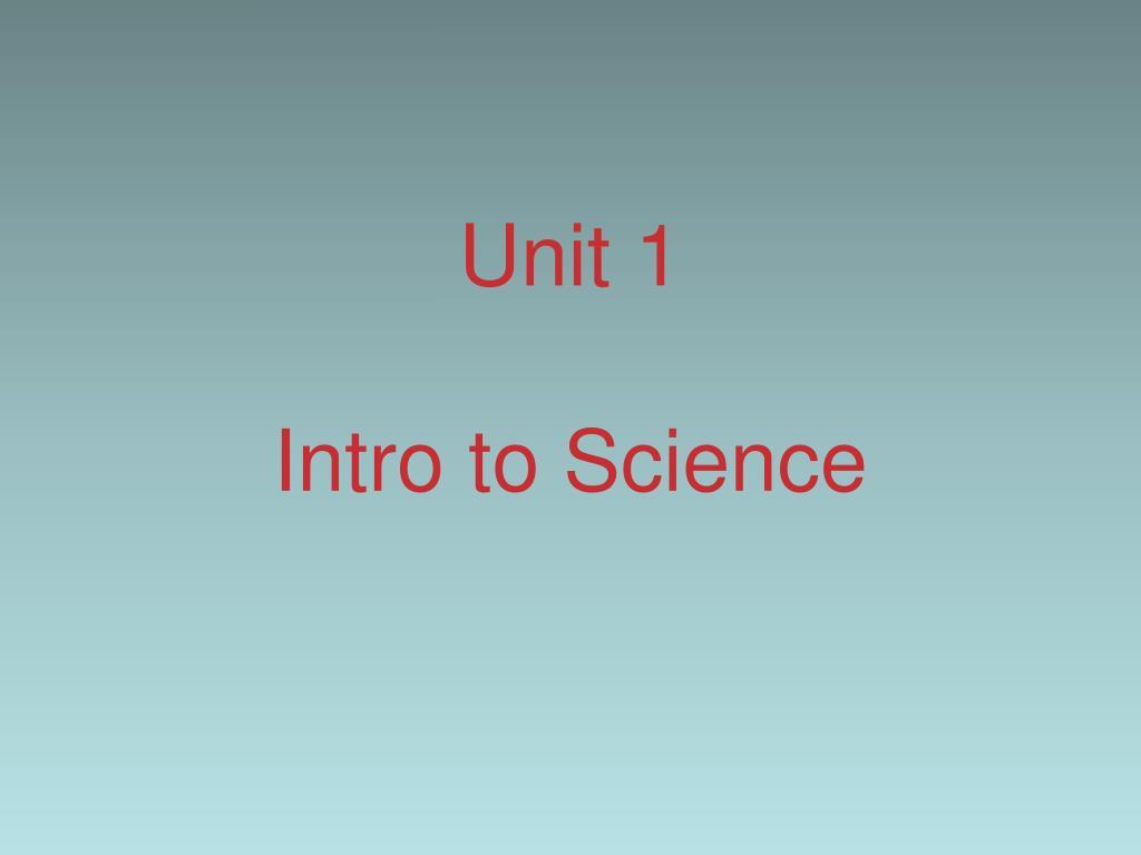 unit 1 intro to science l.