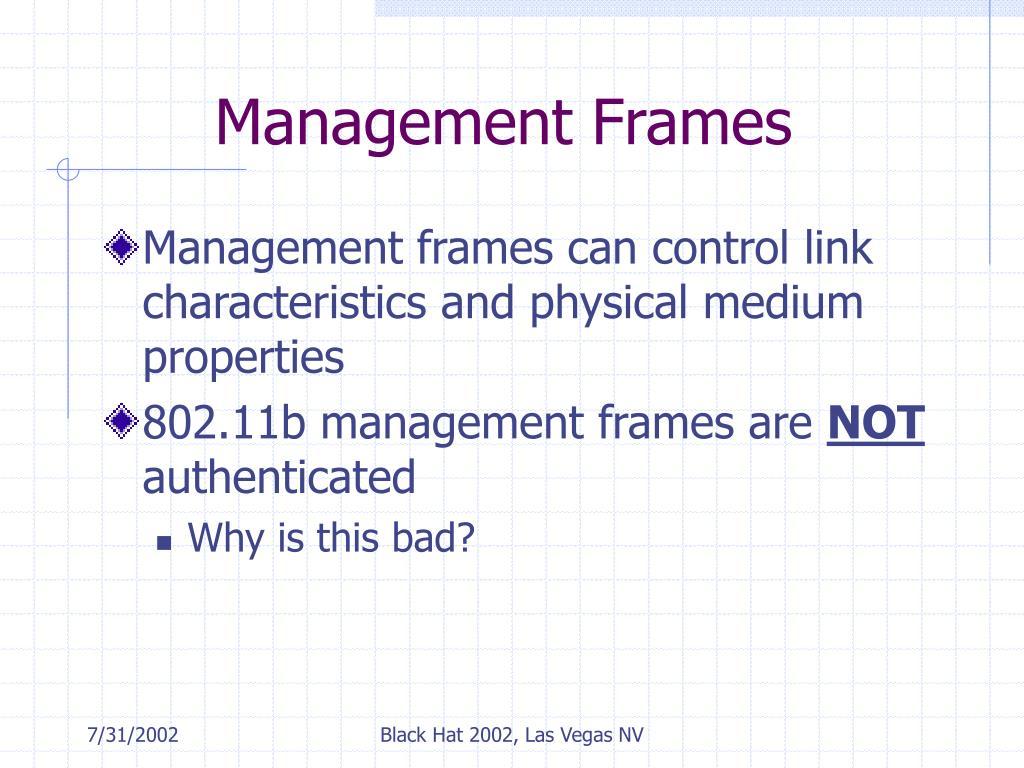 Management Frames