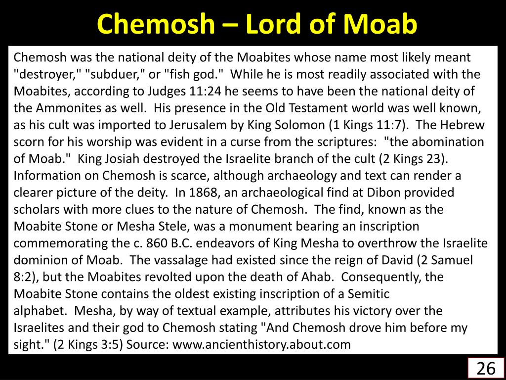 Chemosh – Lord of Moab