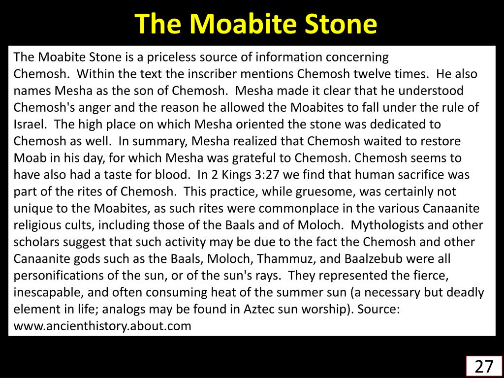 The Moabite Stone