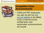 competitive exam announcements