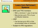 loans from retirement systems