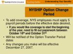 nyship option change period34