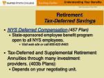 retirement tax deferred savings