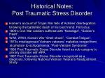 historical notes post traumatic stress disorder