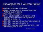 iraq afghanistan veteran profile