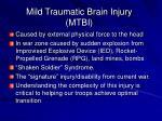 mild traumatic brain injury mtbi