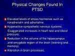 physical changes found in ptsd