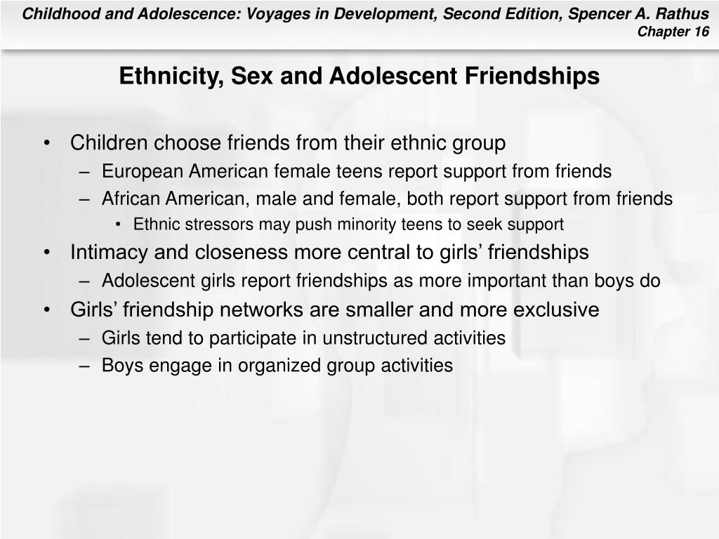 Ethnicity, Sex and Adolescent Friendships