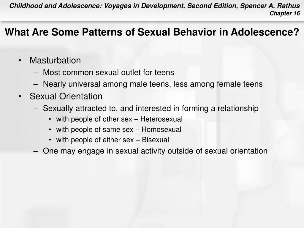 What Are Some Patterns of Sexual Behavior in Adolescence?