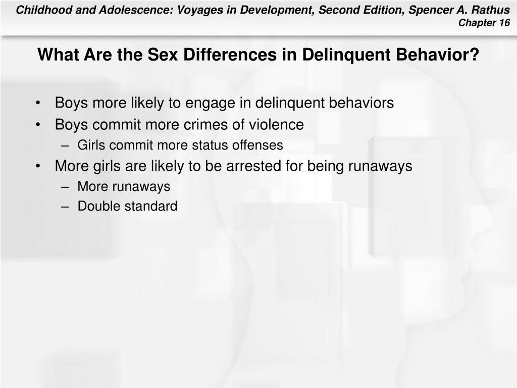 What Are the Sex Differences in Delinquent Behavior?