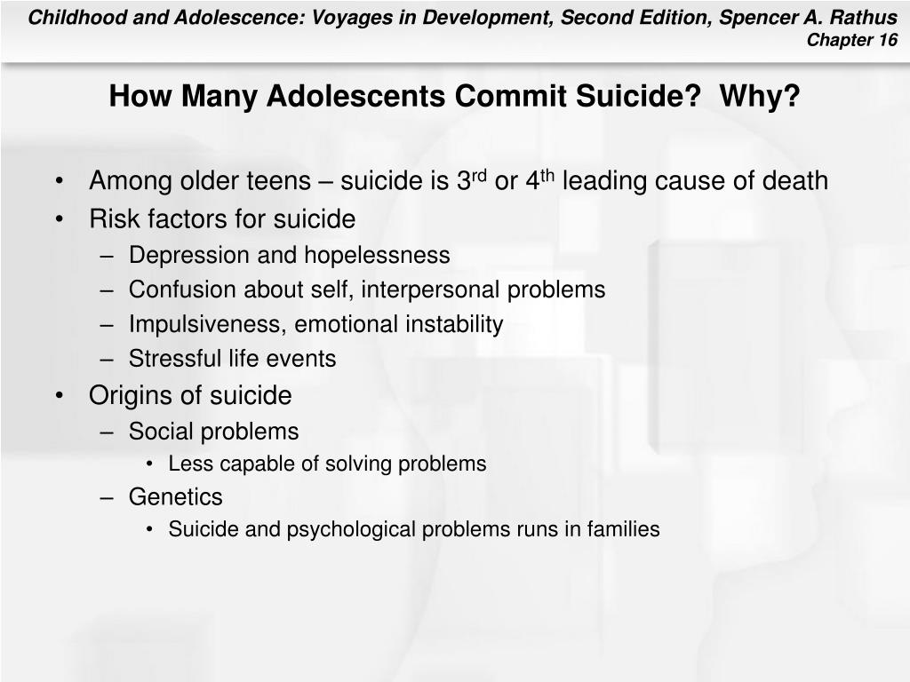 How Many Adolescents Commit Suicide?  Why?