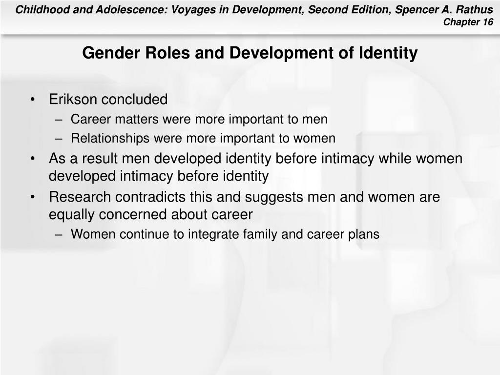 Gender Roles and Development of Identity