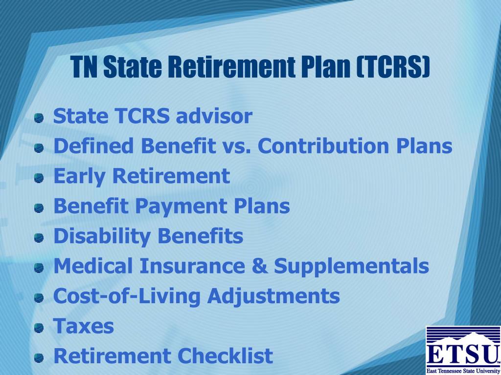 TN State Retirement Plan (TCRS)