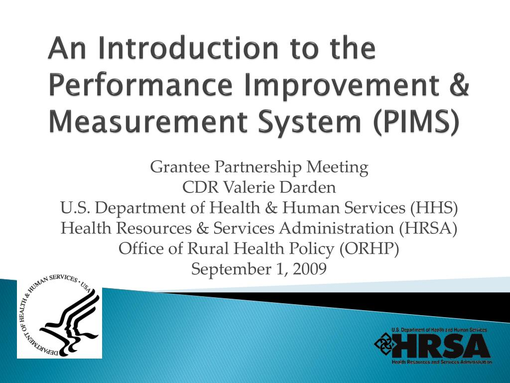 an introduction to the performance improvement measurement system pims l.
