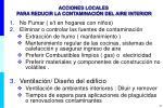 acciones locales para reducir la contaminaci n del aire interior
