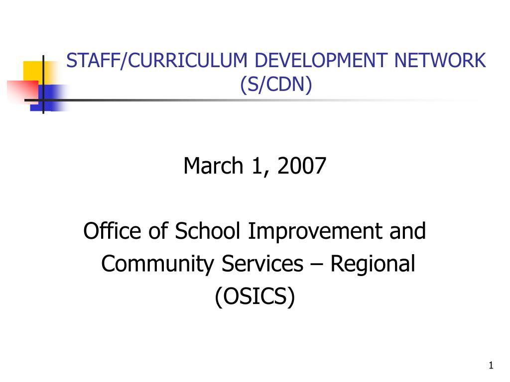 staff curriculum development network s cdn