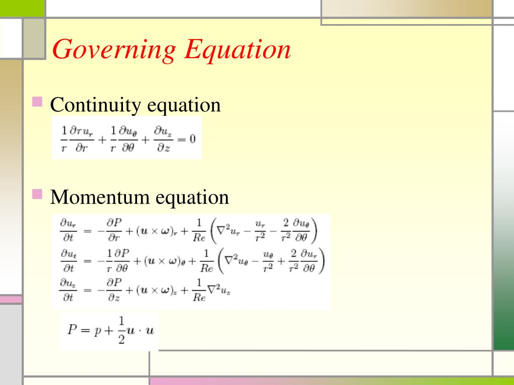 Governing Equation