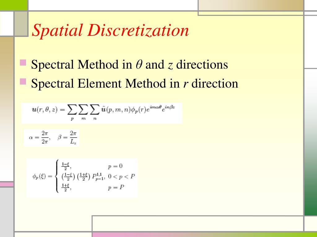 Spatial Discretization