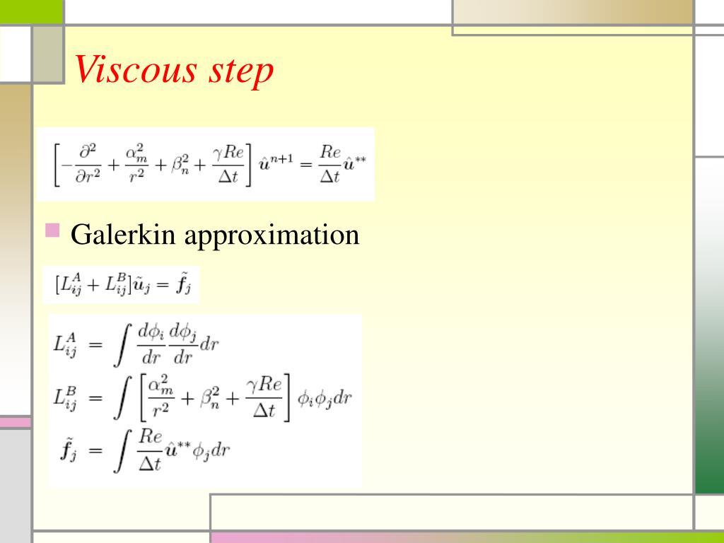 Viscous step