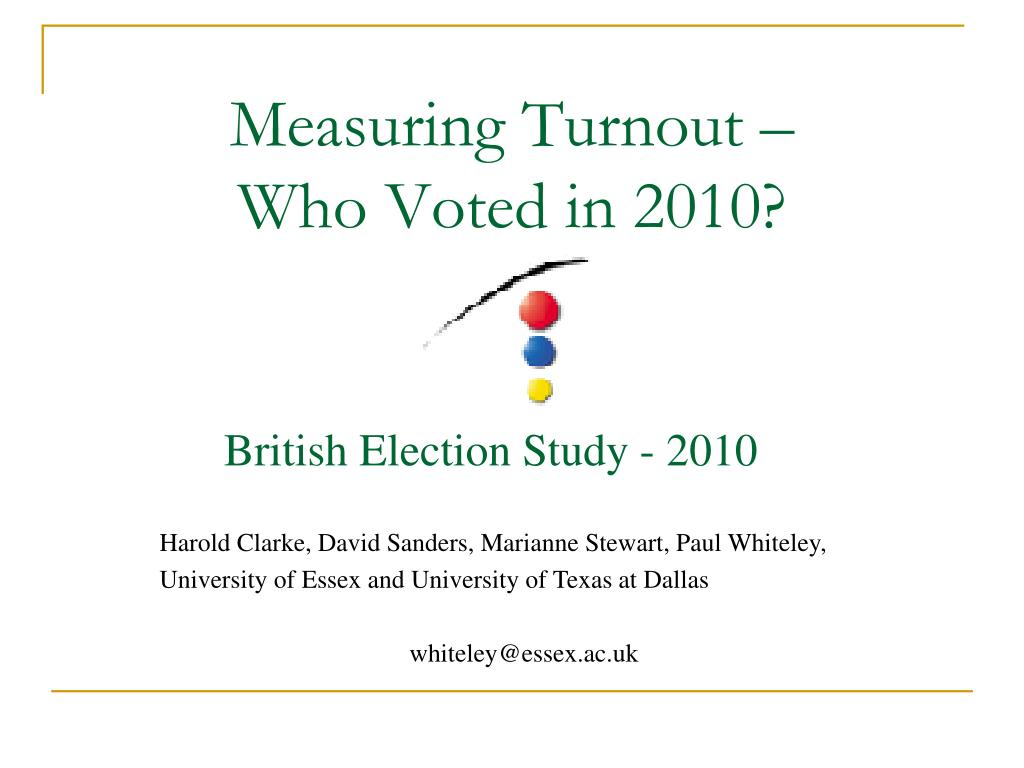 Measuring Turnout –
