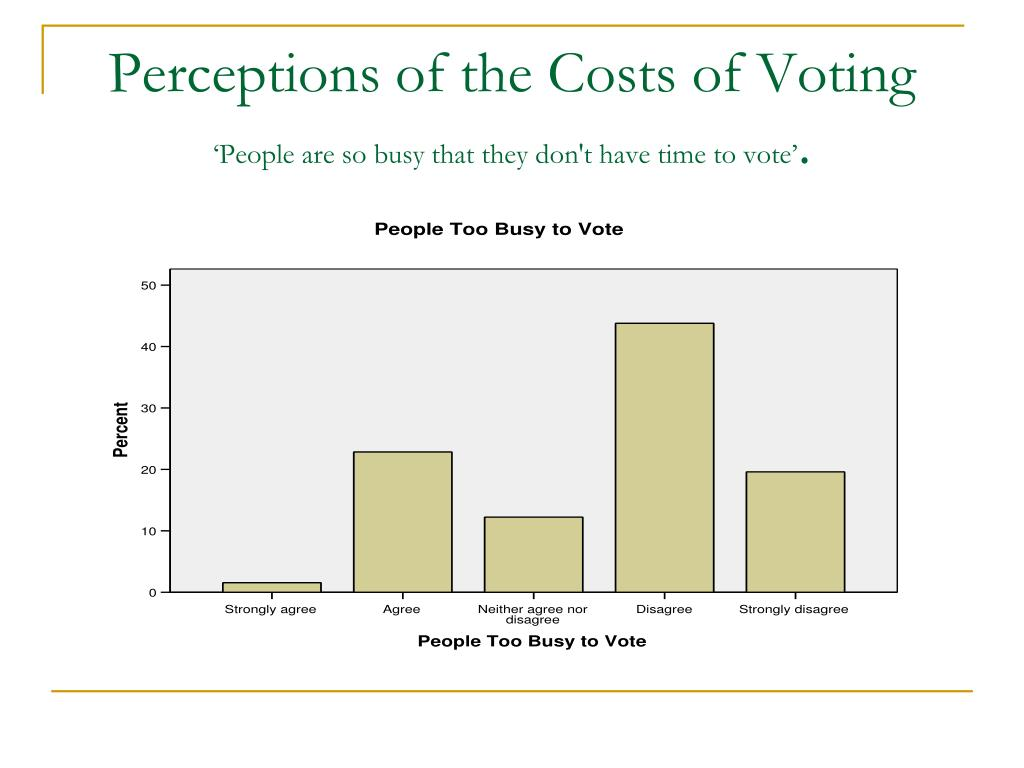 Perceptions of the Costs of Voting
