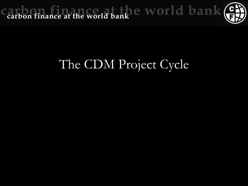 the cdm project cycle l.