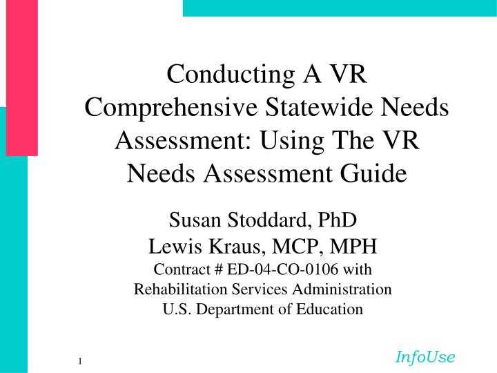 conducting a vr comprehensive statewide needs assessment using the vr needs assessment guide n.