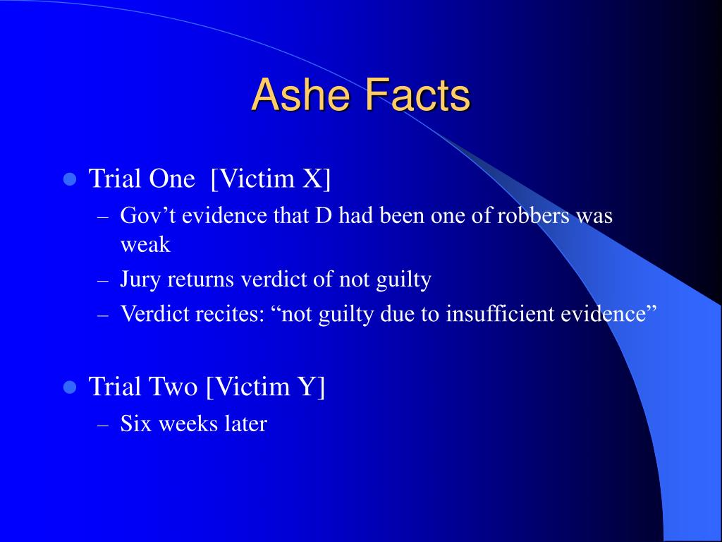 Ashe Facts