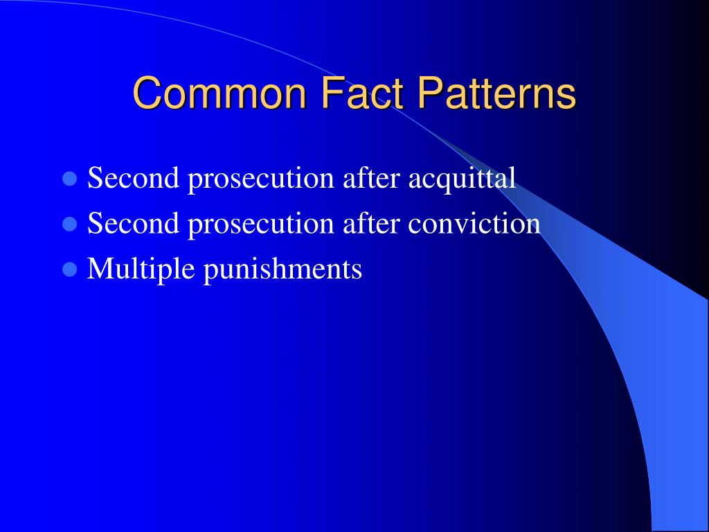 Common Fact Patterns