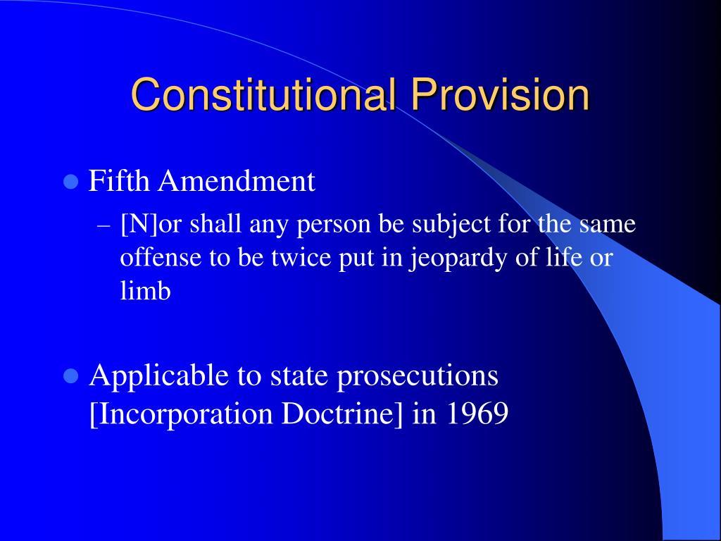 Constitutional Provision