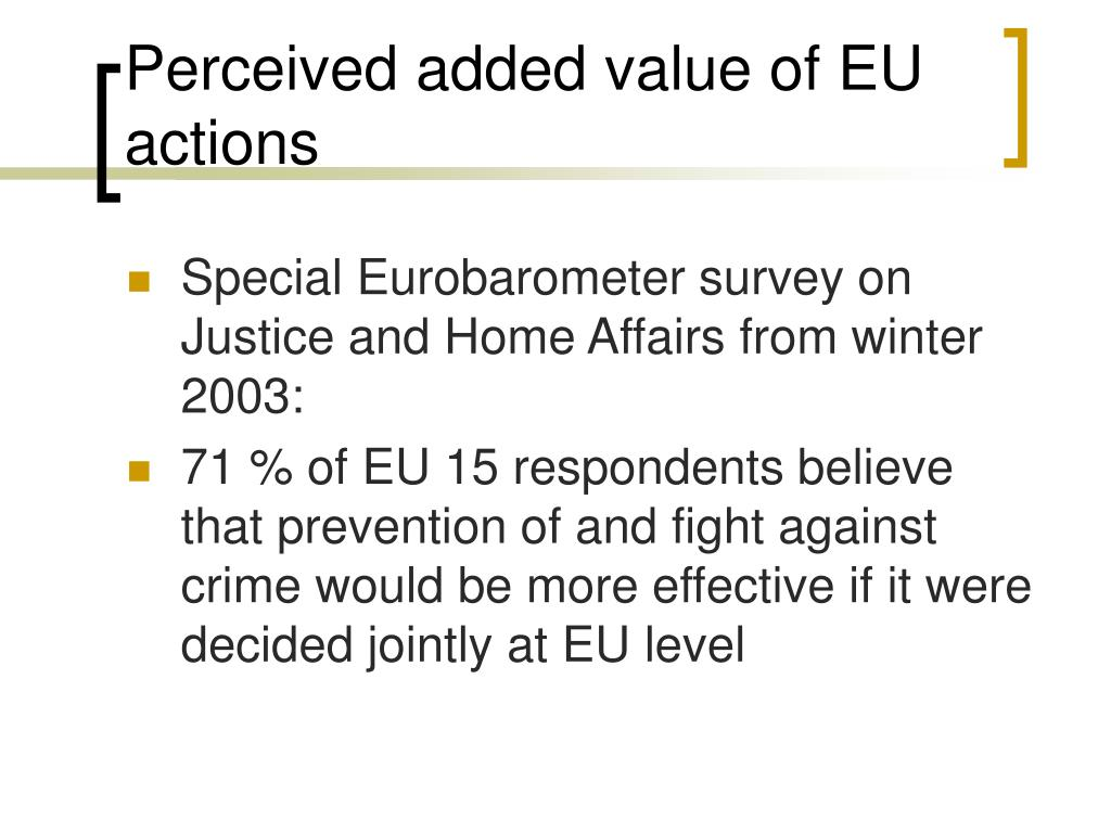 Perceived added value of EU actions