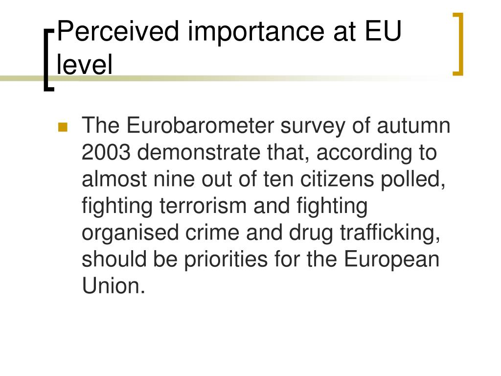Perceived importance at EU level