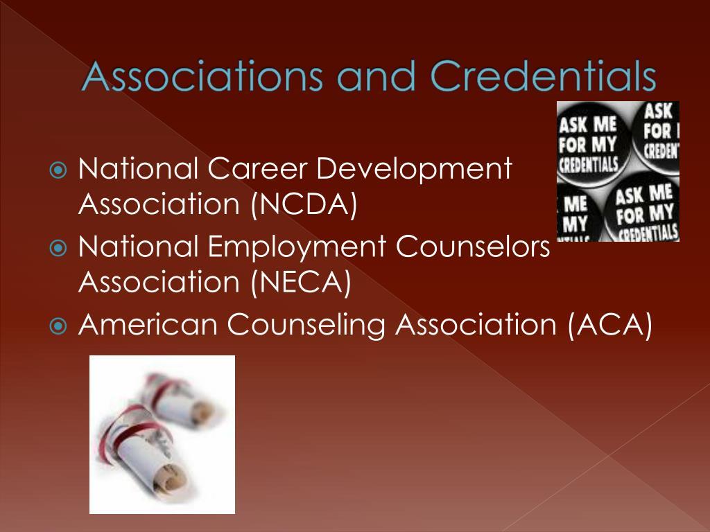 Associations and Credentials