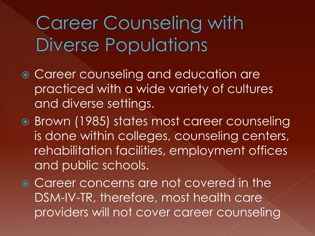 Career Counseling with Diverse Populations