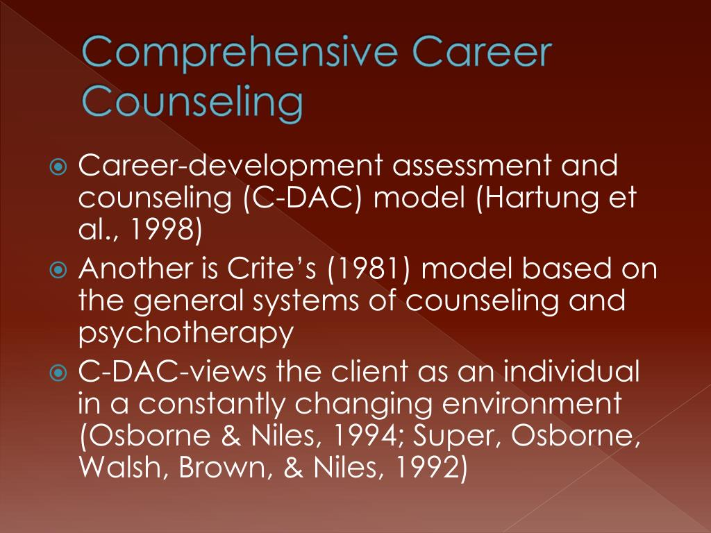 Comprehensive Career Counseling